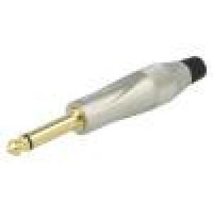 Zástrčka Jack 6,35 mm vidlice mono přímý na kabel pájení