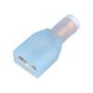 Konektor plochý 6,3mm 0,8mm zásuvka 1,5-2,5mm2 krimpovací