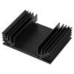 Chladič lisovaný TO3 černá L:50mm W:65mm H:18mm 4,9K/W
