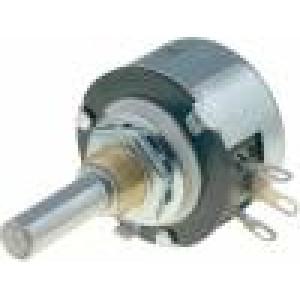 Potenciometr axiální, jednootáčkový 330Ω 2W 6mm drátový
