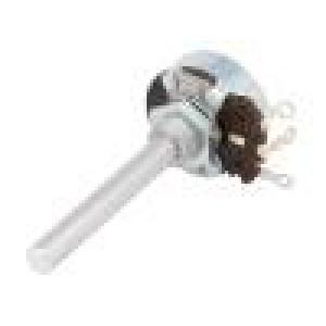 Potenciometr axiální, jednootáčkový 2,5Ω 4W ±20% 6mm drátový