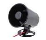 SYR-03 Akustický měnič siréna dynamická 1-tónů 1300mA Ø:105mm 12VDC