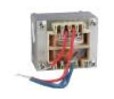 Transformátor síťový 25VA 230VAC 13V 3A s vodičem IP00