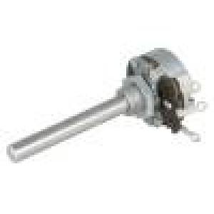 Potenciometr axiální, jednootáčkový 1kΩ 4W 6mm drátový