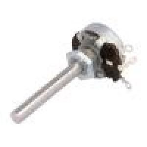 Potenciometr axiální, jednootáčkový 2,5kΩ 4W 6mm drátový