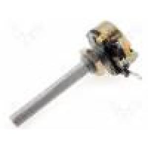 Potenciometr axiální, jednootáčkový 500Ω 4W 6mm drátový