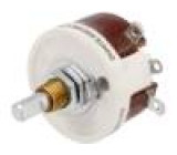 Potenciometr axiální, jednootáčkový 100Ω 25W 6,35mm drátový