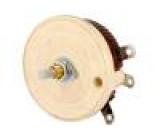 Potenciometr axiální, jednootáčkový 5Ω 100W 6,35mm drátový