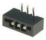 Konektor FFC / FPC úhlové 90° THT NON-ZIF 3 PIN2,54mm 500V