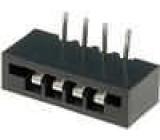 Konektor FFC / FPC úhlové 90° THT NON-ZIF 4 PIN 2,54mm 500V