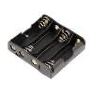 Pouzdro bateriové AA, R6 Počet čl:4 konektor do plošného spoje