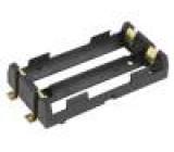 Pouzdro na baterie MR18650 Montáž SMT Počet čl:2