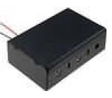 Pouzdro na baterie D,R20 Počet čl:3 s vodičem barva černá 150mm