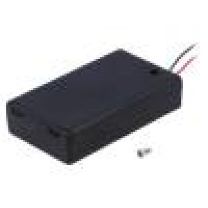 Pouzdro bateriové AAA, R3 Počet čl:3 s vodičem barva černá