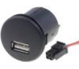 Automobilový napájecí zdroj USB A zásuvka 12V 5V/1x2,1A