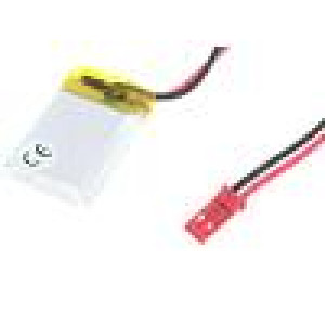 Akum: Li-Po 3,7V 250mAh Výv: vodiče 5x20x30mm