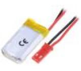 Akum: Li-Po 3,7V 250mAh Výv: vodiče 6x17x30mm