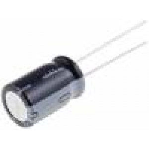 Kondenzátor elektrolytický THT 470uF 16V Ø8x11,5mm ±20%