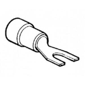 kabelové oko vidlicové izol. červená - 6 x 0,25 - 1,5