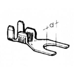 kabelové oko vidlicové - 4,2 x 0,75 - 2,5