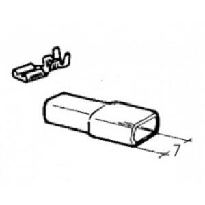 izolační návlek na objímku červený - 6,3 mm