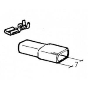 izolační návlek na objímku - 4,8 mm
