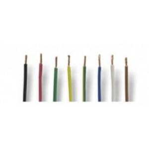 kabel bílý - 1 x 1 mm2