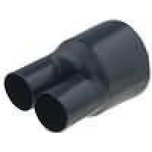 Teplem smrštitelná rozdělovací hlava 3:1 33mm černá -50-80°C