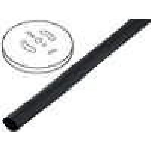 Teplem smrštitelná trubička 2:1 1,2mm černá polylefin