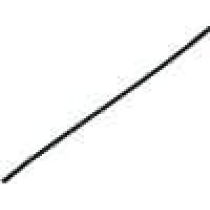 Teplem smrštitelná trubička 2:1 1,2mm L:1m černá polylefin