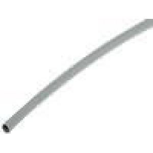 Teplem smrštitelná trubička 3:1 3mm L:200mm šedá 10ks