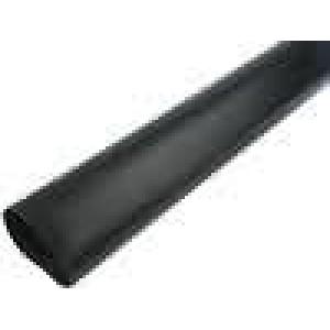Teplem smrštitelná trubička 3,5:1 75mm L:1m černá