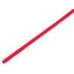 Teplem smrštitelná trubička 3,2mm L:1m 2:1 červená