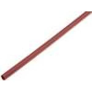 Teplem smrštitelná trubička 4mm L:1m 4:1 hnědá