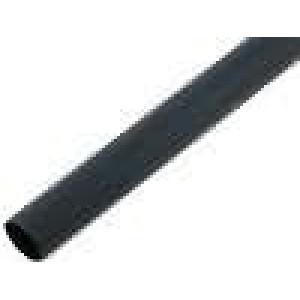 Teplem smrštitelná trubička 3:1 3mm L:1m černá
