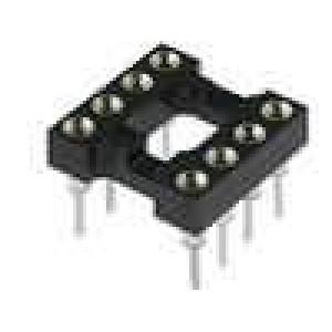 Patice DIP 8 PIN 7,62mm zlacený polyester dvýv:0,51mm 3A