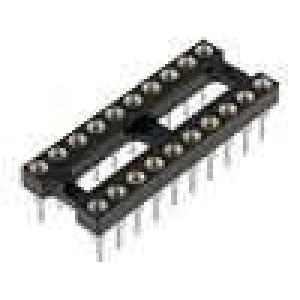 Patice DIP 20 PIN 7,62mm zlacený polyester dvýv:0,51mm 3A