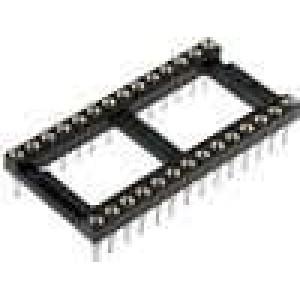 Patice DIP 28 PIN 15,24mm zlacený polyester dvýv:0,51mm 3A