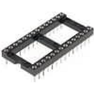 Patice DIP 28 PIN 15,24mm zlacený polyester UL94V-0 1A THT