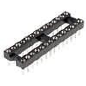 Patice DIP 28 PIN 7,62mm zlacený polyester UL94V-0 1A THT