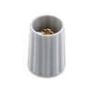 Knoflík polyamid pro hřídel 4mm Ø10x13,7mm šedá hladký