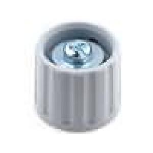 Knoflík polyamid pro hřídel 6mm Ø21x17,5mm šedá hladký