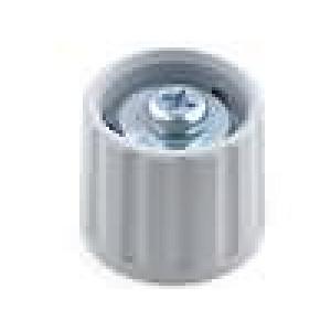 Knoflík polyamid pro hřídel 6mm šedá hladký -20-70°C