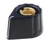 Knoflík s ukazatelem plast pro hřídel 6mm Ø20x15mm černá