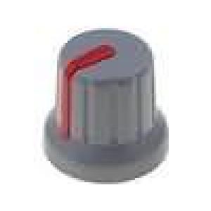 Knoflík miniaturní s ukazatelem ABS pro hřídel 6mm Ø16x14mm