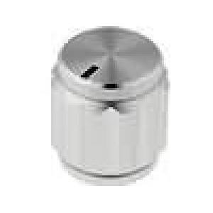Knoflík s ukazatelem hliník pro hřídel 6,35mm Ø15x16,5mm