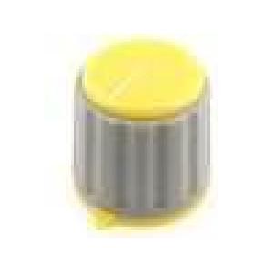 Knoflík s ukazatelem pro hřídel 6mm Ø21,3x20mm zatlačované