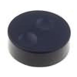 Knoflík bez ukazatele plast pro hřídel 6mm Ø39,6x13,5mm černá