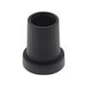 Knoflík kónická termoplast pro hřídel 6,35mm Ø14x18mm černá