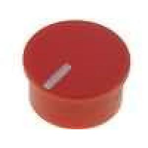 Víčko termoplast zatlačované Ukazatel bílá Víčko červená